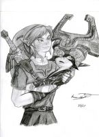 Midna and Link-Shadow Barrier by Black-Wolf-of-Hell