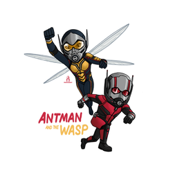 Antman and the Wasp by pencilHead7