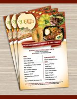 Trios Eatery flyer concept by Kycon