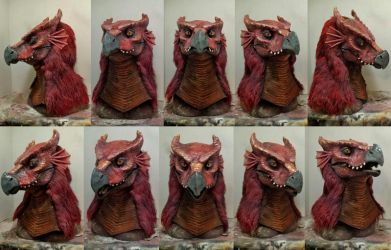 Red dragon mask by Crystumes