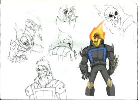 Ghost rider sketch by Sabrerine911
