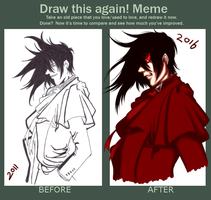 Draw this again!: Alucard by JewelMistic