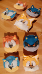 Classic Sonic cupcakes by Zoiby