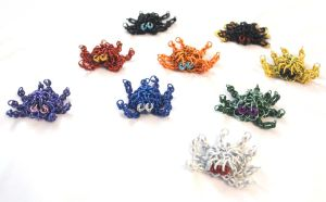 Little Chainmaille Octopi by SilverHauntArmoury