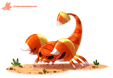 Daily Paint #1070. Scorpicorn by Cryptid-Creations