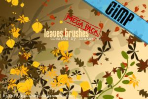 GIMP: Leaves MEGA PACK by hawksmont