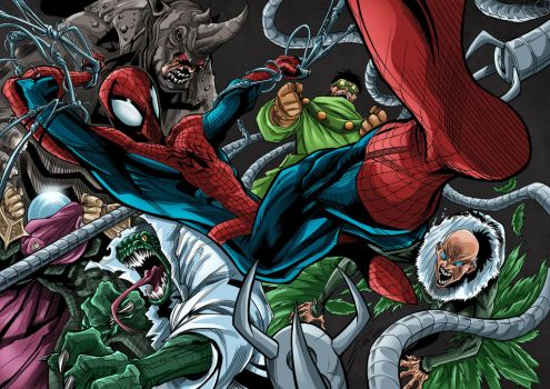 Spider-Man Foes Colored by likwidlead