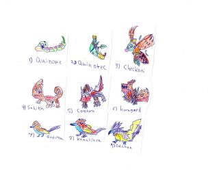 Caleen Starters 1-9 by skysoul25