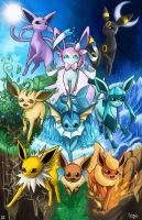 Eeveelutions! by PokuriMio