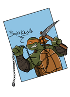 Michelangelo with kusarigama by CandyKappa
