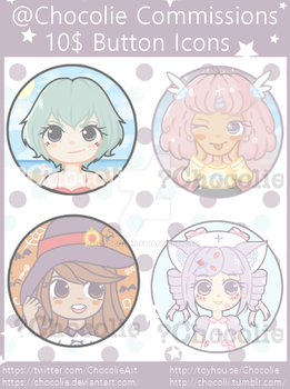 Commission Button icons by Chocolie