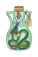 Bottled: Frilled Thornwyrm by emmalazauski