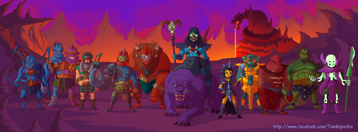 MOTU Villains poster by redeve
