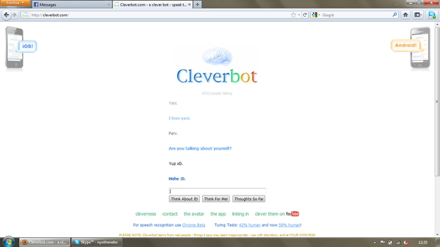 Cleverbot loves Yaoi by NyoTheNek0