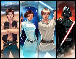 Star Wars Panel Grouping by RichBernatovech