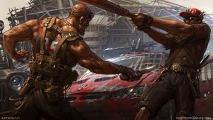 Fight for car by Sviatoslav-SciFi