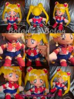 Sailor Moon plush version by Momoiro-Botan