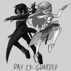 Inktober Day 13: Guarded by Lallelol