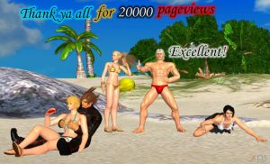 Thank you all for 20000 pageviews! by LarsJunFan
