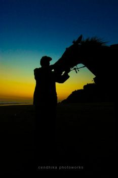 The Man and Horse by cendhikaphoto