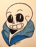 Sans the skeleton by evelynzdragon