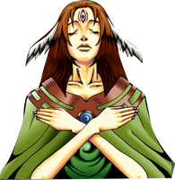 Goddess with the Third Eye png by Carlos123321