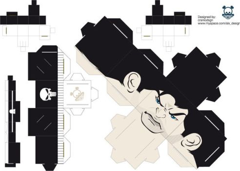 punisher papertoy by craniodsgn