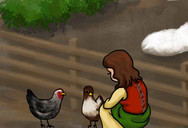 Daily Art Challenge #209: Chicken Whisperer by SnowCrasher