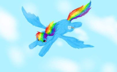 Rainbow Dash by SaintsSister47