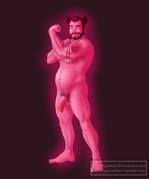 pink man by headingsouth