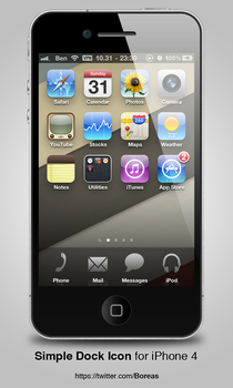 Simple Dock Icon for iPhone 4 by boreaswang