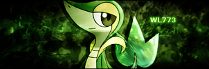 Snivy Signature - WL773 by Chalkali