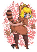 Princesa Peach disfraz Tanuki by Karenali