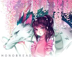 Spirited away under wisterias by HonoBread