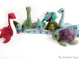 Group of Aquatic Felt Plushies by TheCrittersCove