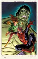 Unused Spiderman Family cover by BroHawk