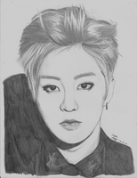 EXO Kim Minseok/Xiumin Drawing by GwiyomiBaozi