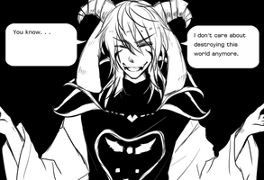 You know...? [Undertale - Asriel Dreemurr Human] by Rivaille2520
