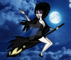 Witchy Elvira by ARTIST-SRF