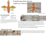 Beadie loftwing pattern and tutorial by RubyDragonCat