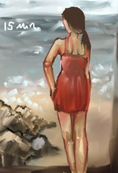 15 minute speedpaint beach yay by ChocolateCello