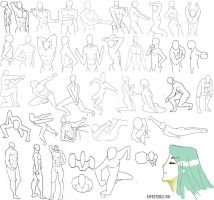 41 male poses by punkyphase3118