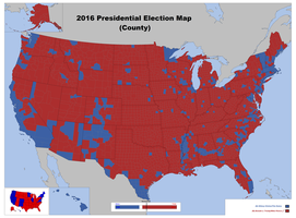 2016 Presidential Election Map County By Louisthefox