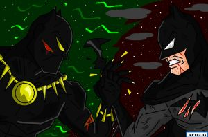 JoeProCEO's Batman V. Black Panther by JoeProCeo