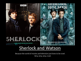 Sherlock and Watson Motivation by pureshadowwolf