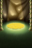 Golden Flowers Background by TheGeminiSage