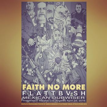 Faith No More Poster Limited Print of 100 by EnricoManiago