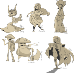 OC Sketches by s0s2