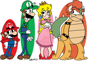 Mario But Exaggerated 1 by UltimateStudios