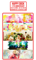 [PACK COVER] Happy DBSK 11th Anniversary by khanhnguyen17